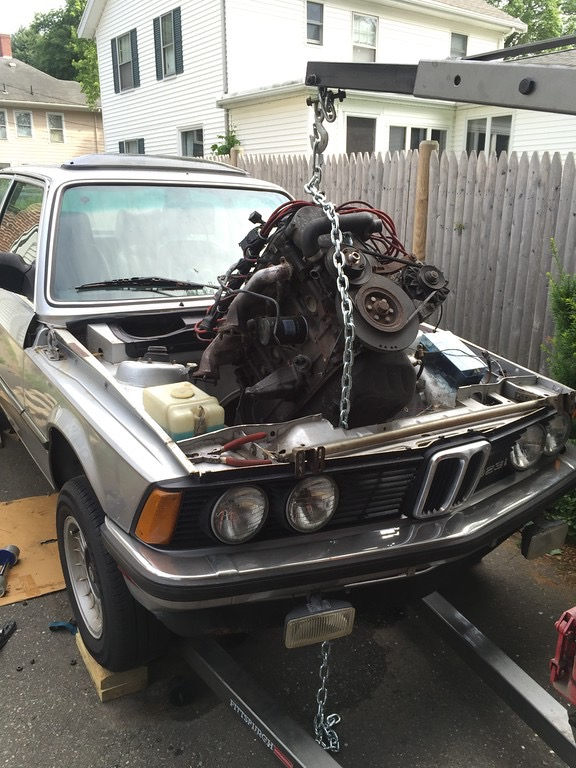 BMW E21 318 αλλαγή μηχανής - engine swap
